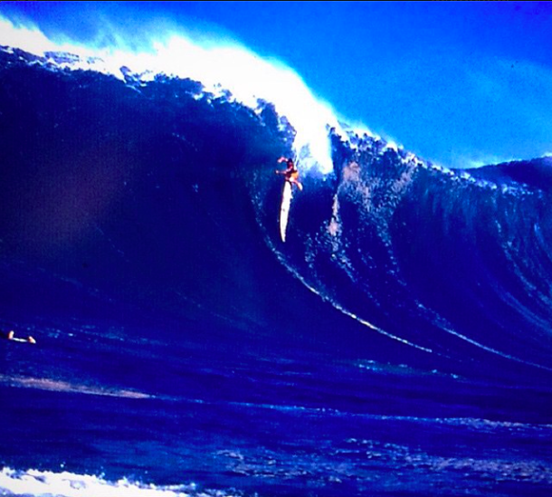 A big break at Mavericks via @titansofmavericks on Instagram
